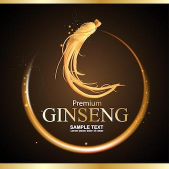 Ginseng premium vector background
