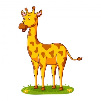 Girafa bonito dos desenhos animados de ilustração