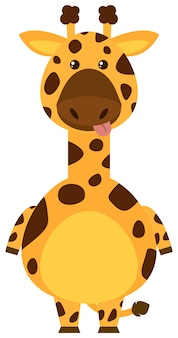 Girafa com face do peitoril