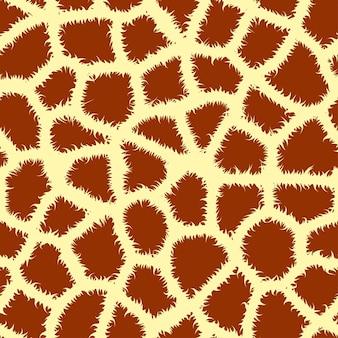 Girafa de estampa animal sem costura lado a lado, ilustração vetorial