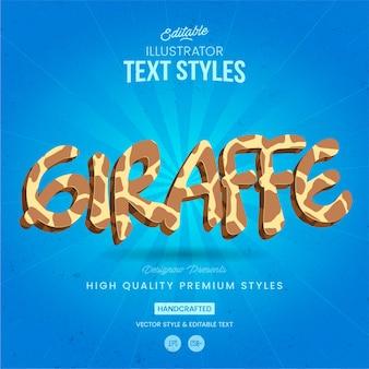Girafa de estilo de texto animal