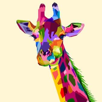 Girafa de fauna mamífero colorido