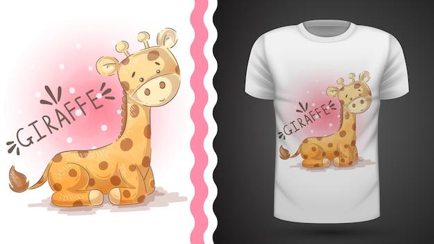 Girafa de peluche - ideia para imprimir t-shirt