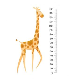 Girafa engraçada. girafa engraçada alegre com pescoço comprido.