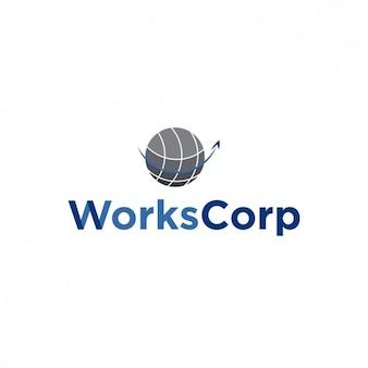 Gire logotipo globo
