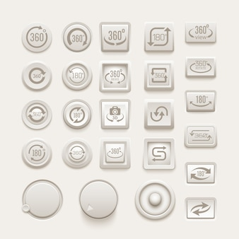 Gire o conjunto de botões.