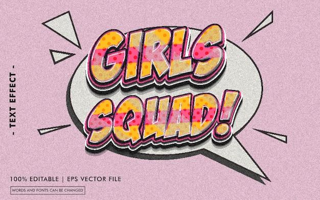 Girls squad! estilo de efeito de texto