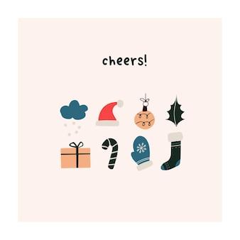 Giro de mão desenhada pequenas palmeiras de verão e pranchas de surf. modelo escandinavo higge bonito para cartão de felicitações, design de t-shirt. ilustração vetorial no estilo cartoon plana