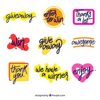 Giveaway lettering coleção para concursos