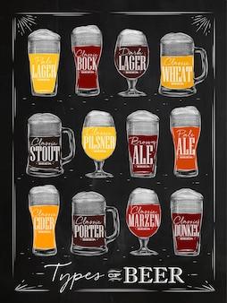 Giz de cerveja de cartaz