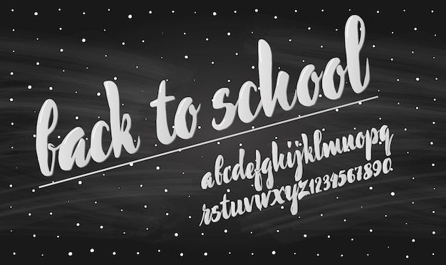 Giz do alfabeto latino - crachá de volta à escola.