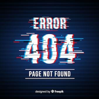 Glitch error 404 page background