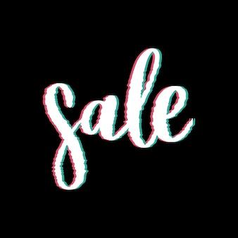 Glitched sale distorted glitch style fundo moderno