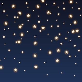 Glitter brilha no fundo do céu à noite