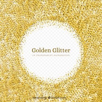 Glitter dourado com fundo transparente