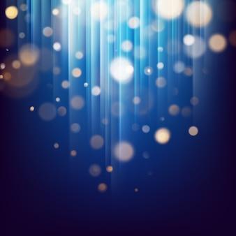 Glitter ouro luzes partículas abstratas. bokeh desfocado no fundo abstrato festivo escuro.