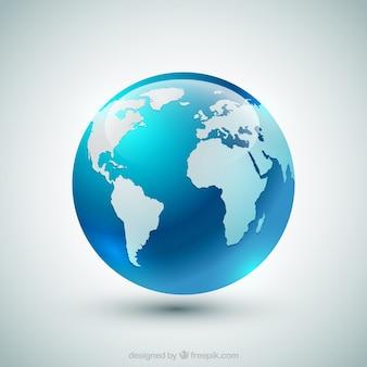 Globo azul da terra