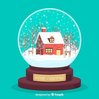 Globo de bola de neve plana criativo