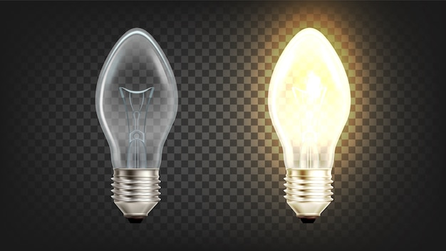 Globo de luz incandescente elétrico brilhante