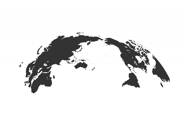 Globo do mapa mundo isolado