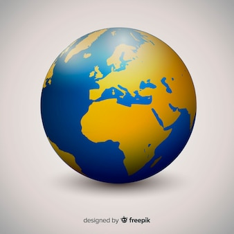 Globo do mundo elegante com estilo gradiente