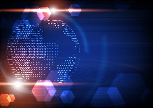 Globo futurista com placa de circuito