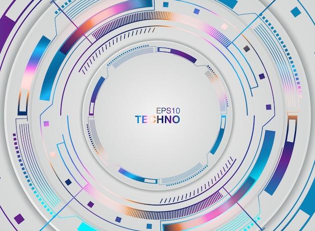 Globo ocular futurista abstrato na placa de circuito, alta tecnologia informática
