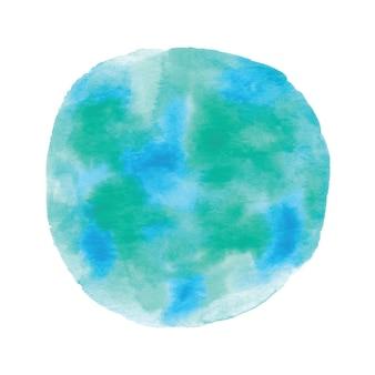 Globo pintado com aguarela