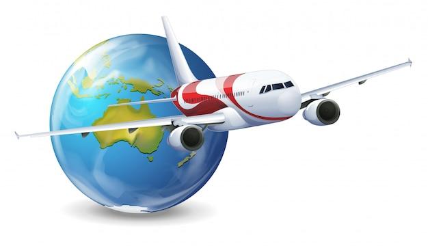 Globo terra e avião