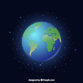 Globo terrestre brilhante
