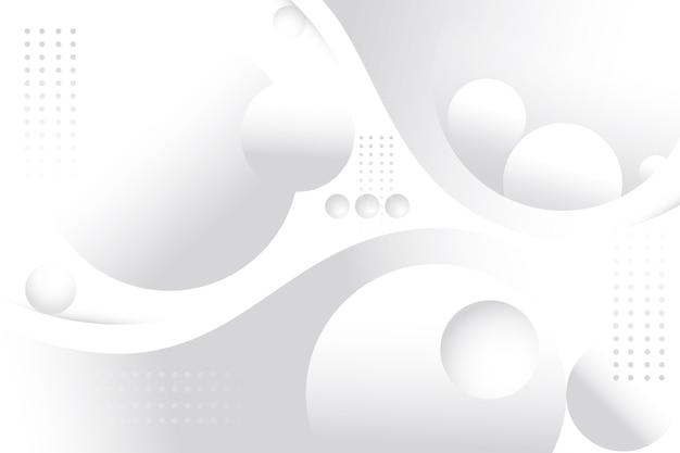 Globos 3d e pontos de fundo branco