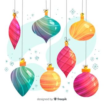 Globos de natal em tons de cores gradientes