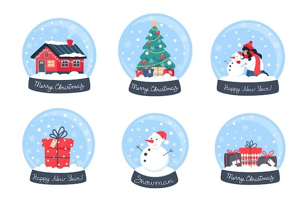 Globos de neve de natal da coleção