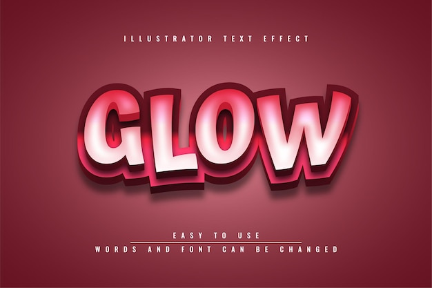 Glow - modelo de efeito de texto editável