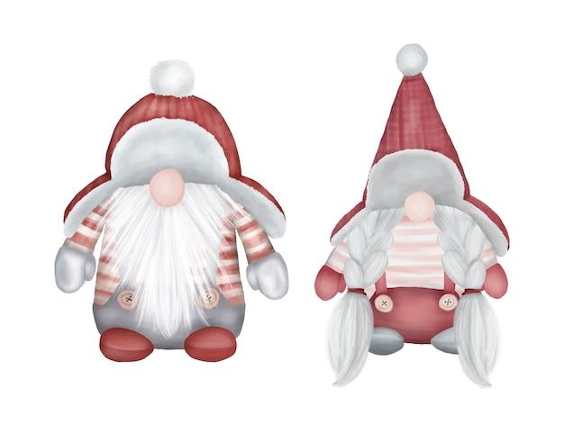 Gnomos de estatueta de decoração de natal