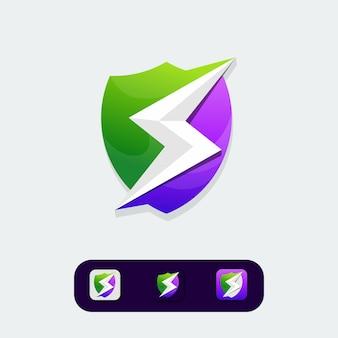 Go design de logotipo de eletricidade verde
