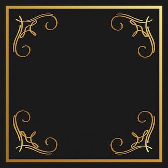 Golden calligraphic flourishes ornamento decorativo design elemento redemoinho