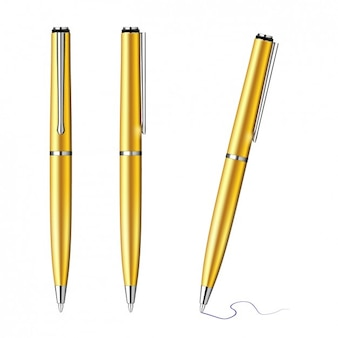 Golden collection pens
