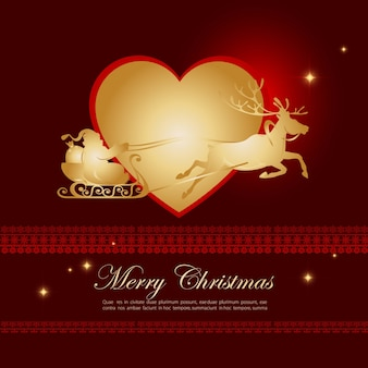 Golden merry chrismas background desgin