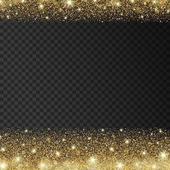 Golden sparkles drop background ilustração do vetor
