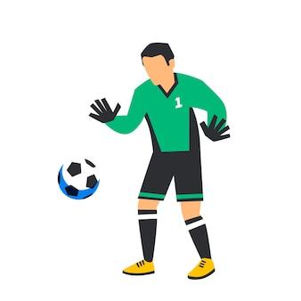 Goleiro de futebol de futebol