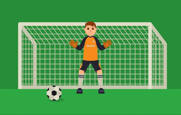 Goleiro de futebol