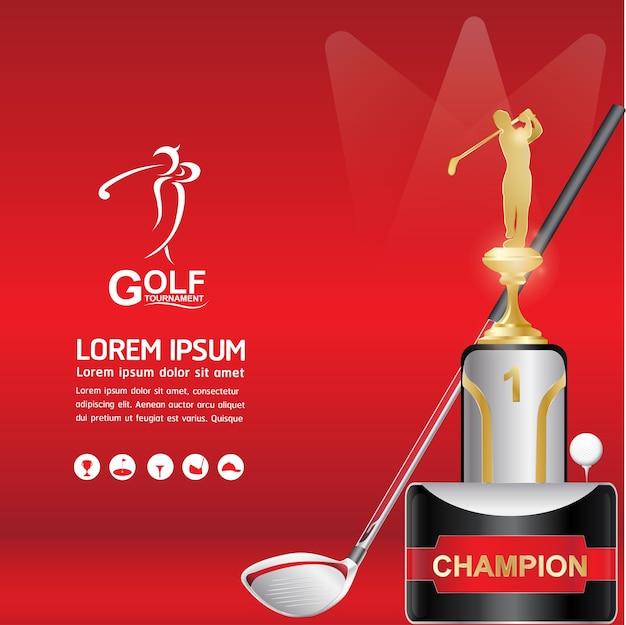 Golf ball vector concept golf mundial de torneio