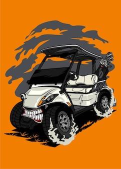 Golf cart monster car