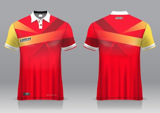 Golfe de jersey, vista frontal e traseira, design esportivo e pronto para ser impresso em tecido e texlite