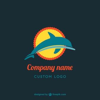 Golfinho design de logotipo livre