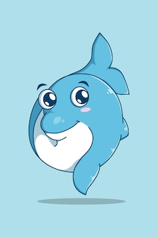 Golfinho fofo no dia mundial dos animais