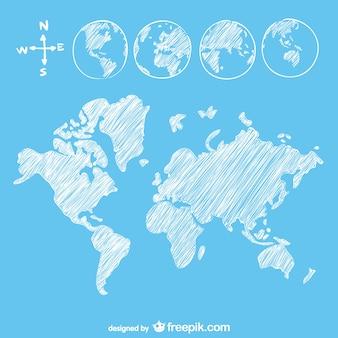 Goobe esboço e mapa