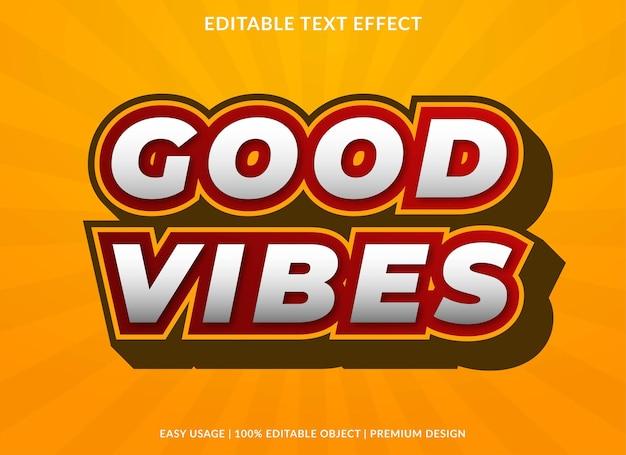 Good vibes texto efeito modelo premium style