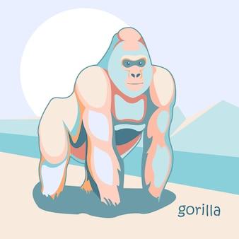 Gorila animal ilustração cor